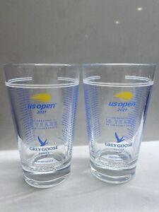 2 x U.S. Open 2021 Tennis 🎾Grey Goose Honey Deuce Glass Set (Made of Glass) NIB