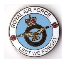 royal air force lapel badge raf airforce British Armed Forces lest we forget