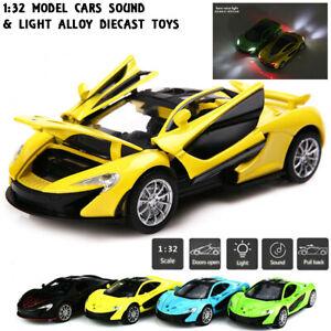 1:32 Mclaren P1 Pullback Alloy Metal Sound Light Model Vehicle Diecast Car Toy