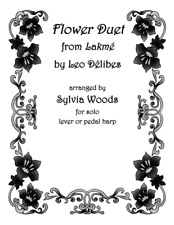 Flower Duet from Lakme Harp Solo Sheet Music