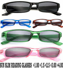 Slim Sun Readers +1.0 +1.5 +2.5 +3.0 READING SUNGLASSES GLASSES HOLIDAY LA
