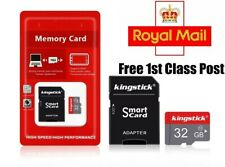Kingstick 32GB SD Card SDHC UHS-I Class 10 TF Memory Card 4K For Cameras