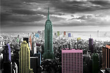 NEW YORK CITY Poster - Color Manhattan NYC Full Size 24x36 Print ~ Empire State