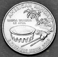 2009 P MINT - American Samoa Quarter Uncirculated Clad, DC & Territorial.