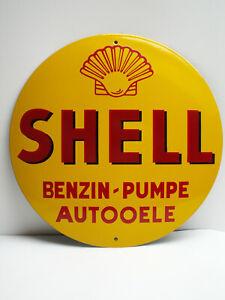 Shell Benzin Emailschild Emaille Schild Emaillschild enamel sign 40 cm