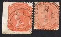 AUSTRALIE DU SUD  N°: 26  USED  YEAR 1868  variety ( smaller + normal stamp )