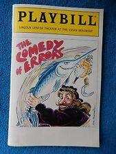 The Comedy Of Errors - Vivian Beaumont Playbill w/Ticket - May 24th, 1987