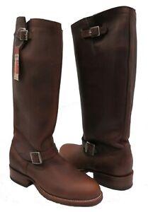 "Men's 18"" Original Chippewa Tall Engineer Boot 9.5 E 4578CHO Tipton Brown NEW"