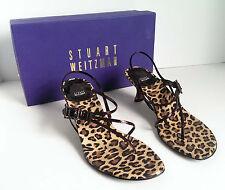 Stuart Weitzman Slingback Heels Leopard Pattern Spain Formal Size 7.5M