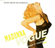 "MADONNA ""Vogue / Keep It Together"" 1990 2Trk CD ""Vogue/KeepItTogether(12"")"""