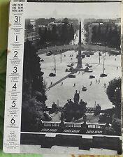 1957 Rome la Place du Peuple Piazza del Popolo Italie