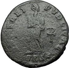 Saint AELIA FLACCILA Theodosius I Wife 383AD Ancient Roman Coin Chi-Rho i59617