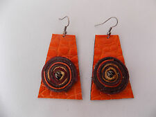 Genuine Leather Handcrafted Jewelry Hook Earring. # 08