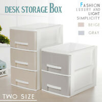 ❤ Large Plastic Makeup Organizer Desk Bathroom Cosmetic Storage Drawer Case