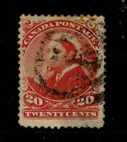 Canada SC# 46, Used, shallow bottom thin - S3890