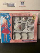 Vintage 1994 Barbie Miniature China Tea Set by Chilton Toys Mattel 13 Piece Nib