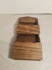 Mail wood letter holder