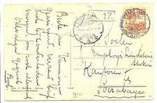 NED INDIE S.M.N. 1922 AK GENOVA  = S.S. KONINGIN DER NEDERLANDEN=  F/VF