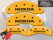 "2003-2011 ""Honda"" Element Front + Rear Yellow MGP Brake Disc Caliper Covers 4pc"