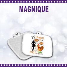 Manique de cuisine A CHACUN SA POULE  cadeau orginal humour