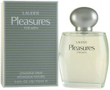 PLEASURES for Men by Estee Lauder 3.3 / 3.4 oz EDC Cologne NEW IN BOX