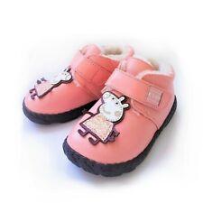 Mädchen Winter Echtleder Stiefel Fell Profil Boots warm gefüttert Peppa 24 rosa