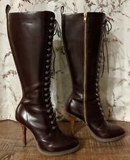 Dr. Martens Gilda Tall Lace-Up Stiletto Oxblood/Burgundy US 9 UK 7 EU 41