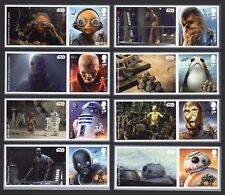 2017 STAR WARS SMILERS Set of Eight SINGLE LITHO STAMPS + LABELS