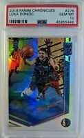 2018-19 Panini Chronicles Elite Luka Doncic Rookie RC #278, Graded PSA 10