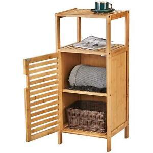 Nachtschrank Nachttisch Badschrank Bambus Bambusregal Badezimmerschrank