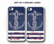 Blue Stripe Sailor Anchor BFF Best Friends 2 Cases For iPhone 6 6S PLUS 5S 5C 4S