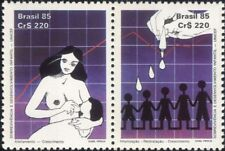 Brazil 1985 Children/Health/UNICEF/Chart/Graph/Breast Feeding 2v set pr (n24726)