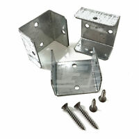"""10 - 44mm (1.7"""") FENCE PANEL & TRELLIS POST BRACKET CLIPS & A2 STAINLESS SCREWS"""