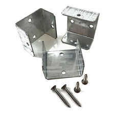 """10 - 40mm (1.6"""") FENCE PANEL & TRELLIS POST BRACKET CLIPS & A2 STAINLESS SCREWS"""