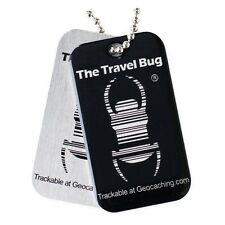 Geocaching QR Travel Bug Black