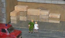 HO Large Wood Crates 20pcs HOn3 Produits MP box crate diorama caisses # H033