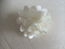 Ivory Hair Clip Small Flower Girl Bridesmaid Wedding Prom Races Fascinator