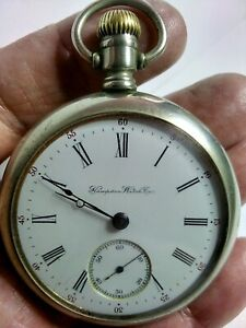 SUPER RAILROAD GRADE, HAMPDEN GR DUEBER WATCH Co, 18s, 15Js, O/FACED P/WATCH FWO