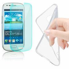 Silikon Schutz Hülle für Samsung Galaxy S3 Mini Handy Tasche Case + Schutzglas
