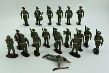 LOT 20 SOLDATS STARLUX FRANCE PLASTIQUE PEINT ARMEE AMERICAINE BERET VERT F276