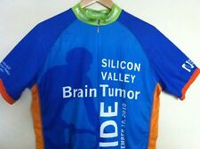 VERGE Cycling Jersey Mens LARGE L Silicon Valley Full Ziipper BLUE GREEN ORANGE