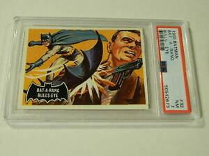 "1966 Topps BATMAN Black Bat #32 ""Bat-A-Rang Bulls-Eye"" - PSA 7 NM - High Grade!"