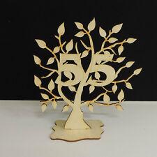Jubiläumsbaum Geburtstag, 55 Jahre aus Holz 16cm Lebensbaum Geschenk Hochzeit