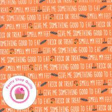 Moda GHOUL'S GOODIES 20683 20 Orange Text STACY HSU Quilt Fabric HALLOWEEN