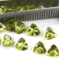 Wholesale Lot 6mm Trillion Facet Cut Natural Peridot Loose Calibrated Gemstone