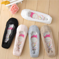 3 Pairs Women Lace Silicone Antiskid Invisible Liner No Show Low Cut Boat Socks