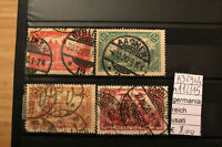 STAMPS GERMANIA REICH USATI USED N. 112/115 (A32944)