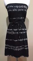 NWT Women's Black Print Strapless Mossimo Dress Small