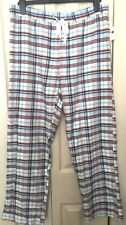 BNWT Gap Women Check Flannel Roll Up Trousers Size M L31 RRP£19.95