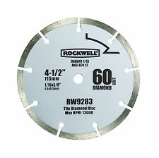 "RW9283 4 1/2"" 60-Grit Diamond Compact Circular Saw  by Rockwell"